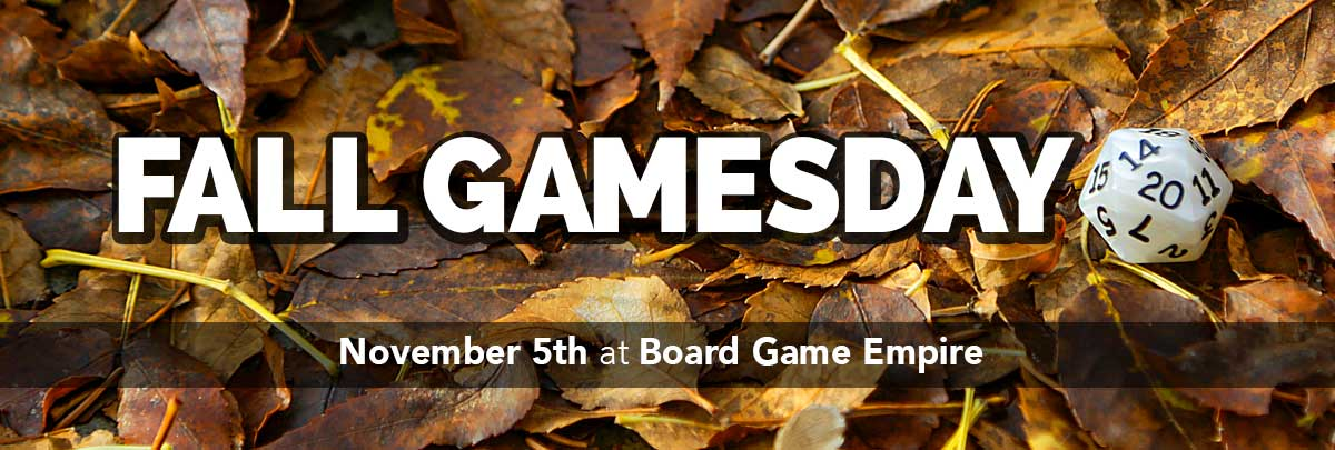 PrairieCon Gamesday November 5th at Boardgame Empire